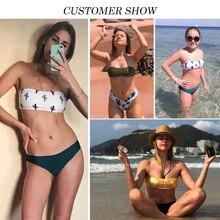 Bikinx Bandeau swimwear women push up swimsuit female Cactus Print micro bikini 2019 sexy bathing suit beach bathers Biquini new