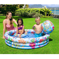 Lovely Inflatable Swimming Water  Pool Package Infant Child Home Theater Basin Playground Bathing Pool+ Ball+Swimming Laps