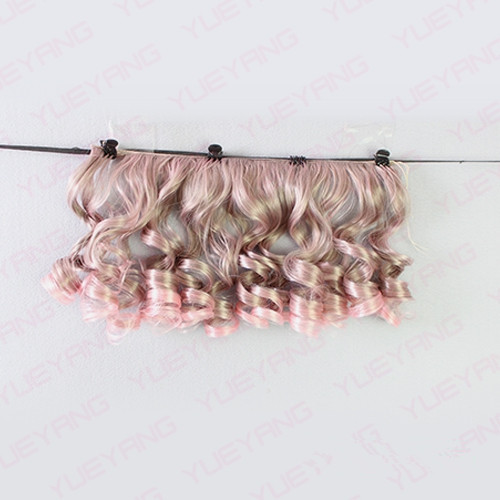 7Pcss / lot NYHET 15CM * 100CM Fasjonable BJD SD DIY Curly Parykker - Dukker og tilbehør - Bilde 6
