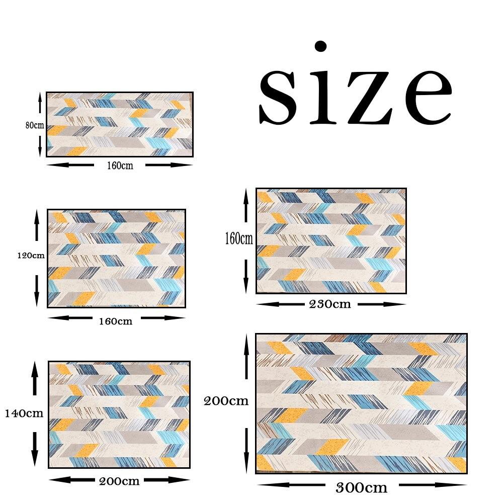 Nordique salon géométrique tapis Super flanelle Point en plastique anti-dérapant zone tapis hiver chaud épais décor chambre tapis tapis - 5