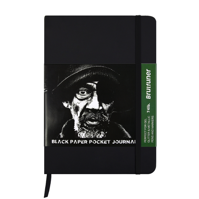 cool blank black paper notebook vintage artist drawing diary book