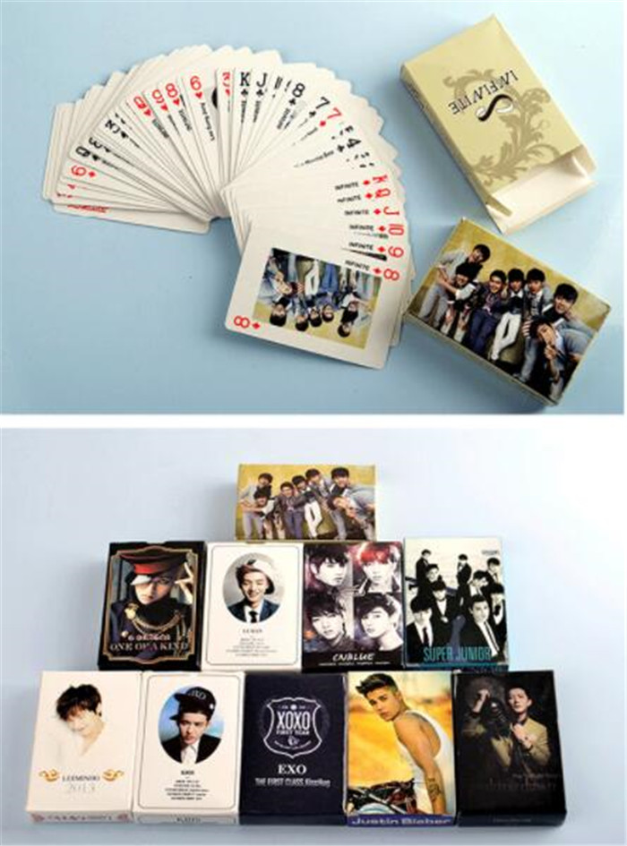 Kpop Exo Poker Playing Cards Xiumin Suho Kai Chanyeol Sehun Lay Baekhyun Fanart Pictures Art Book Props Gifts Collection New Costumes & Accessories
