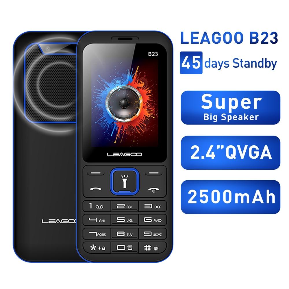 LEAGOO B23 Feature Mobile Phone Senior Kids Mini Phone Russian Keypad 2G GSM Push Button Key Cellphone