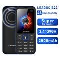 LEAGOO B23 Feature Mobile Phone Senior Kids Mini Phone Russian Keypad 2G GSM Push Button Key Cellphone|Cellphones| |  -