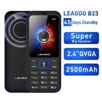 LEAGOO B23 característica teléfono móvil Senior niños Mini teclado ruso 2G GSM Botón de pulsación de teléfono móvil