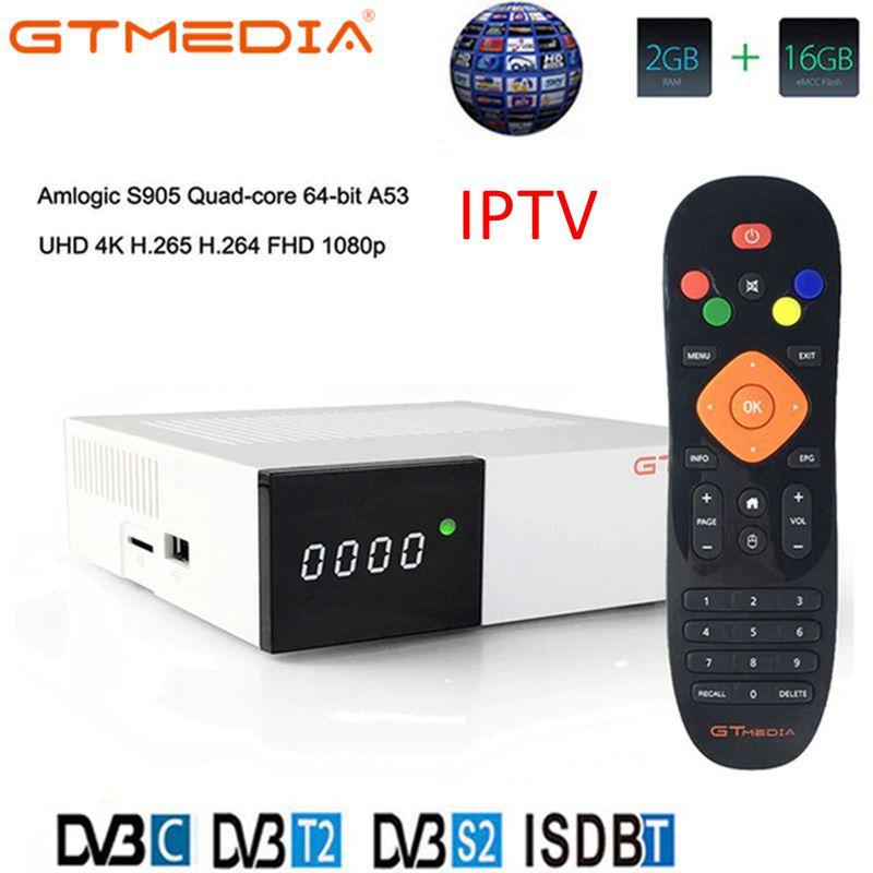 GTmedia GTC Smart Android 6.0 TV BOX 4 K Ultra HD 2G 16G film WIFI DVB-S2/T2/câble/ISDBT lecteur multimédia décodeur prise en charge IPTV