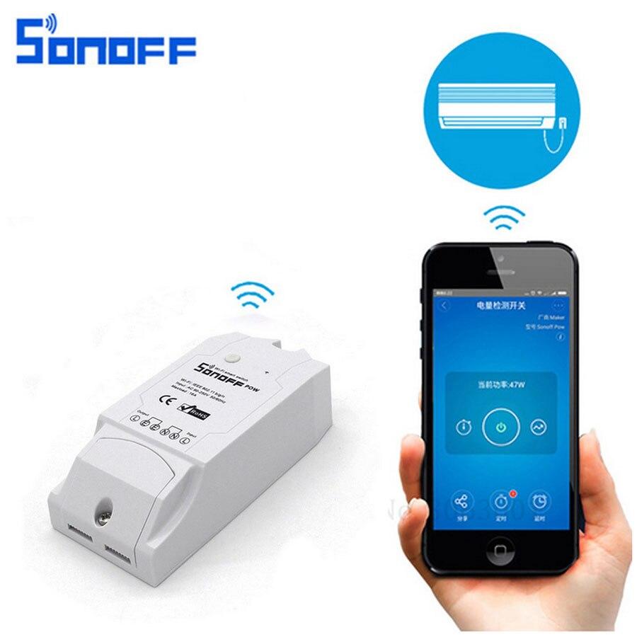 Sonoff Pow Smart Wifi Schalter Controller Smart Home Control Mit Echtzeit Stromverbrauch Messung 16A/3500 watt Über EWeLink