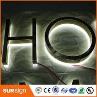 Aliexpress Sign Manufacturer Rose Gold Flat Metal Backlit Led Letter Sign