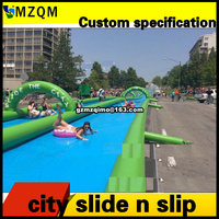 free sea shipping,100x6m giant outdoor commercial rental inflatable slip n slide,slide the city,big inflatable water slide city