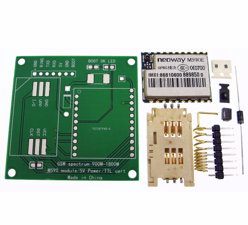 M590E gsm модуль GPRS DIY комплекты M590 GSM GPRS 900 м-1800 м SMS Процессор MCU Тесты подержанных