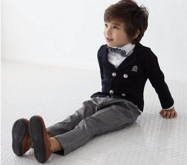 Online Shop 3 piece Blazers jackets for Baby boys Wedding suits Kids ...