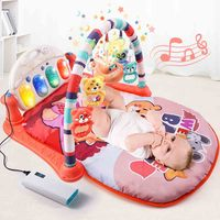 Baby Foot electric Piano Fitness Frame music Toy Puzzle Appease Early Education Newborn 0 1 Baby 3 6 12 Months funny toy