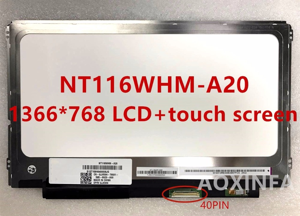 Free Shipping Original NT116WHM-A20 B116XTT01.1 HD Touch LED LCD Screen 1366 * 768 40-pin connector perfect A + screen fifty shades of grey you are mine наручники из коллекции 50 оттенков серого