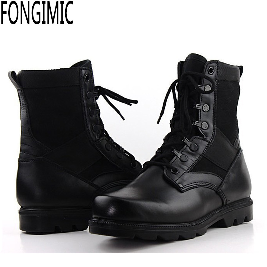 Comfortable Combat Boots - Boot Hto