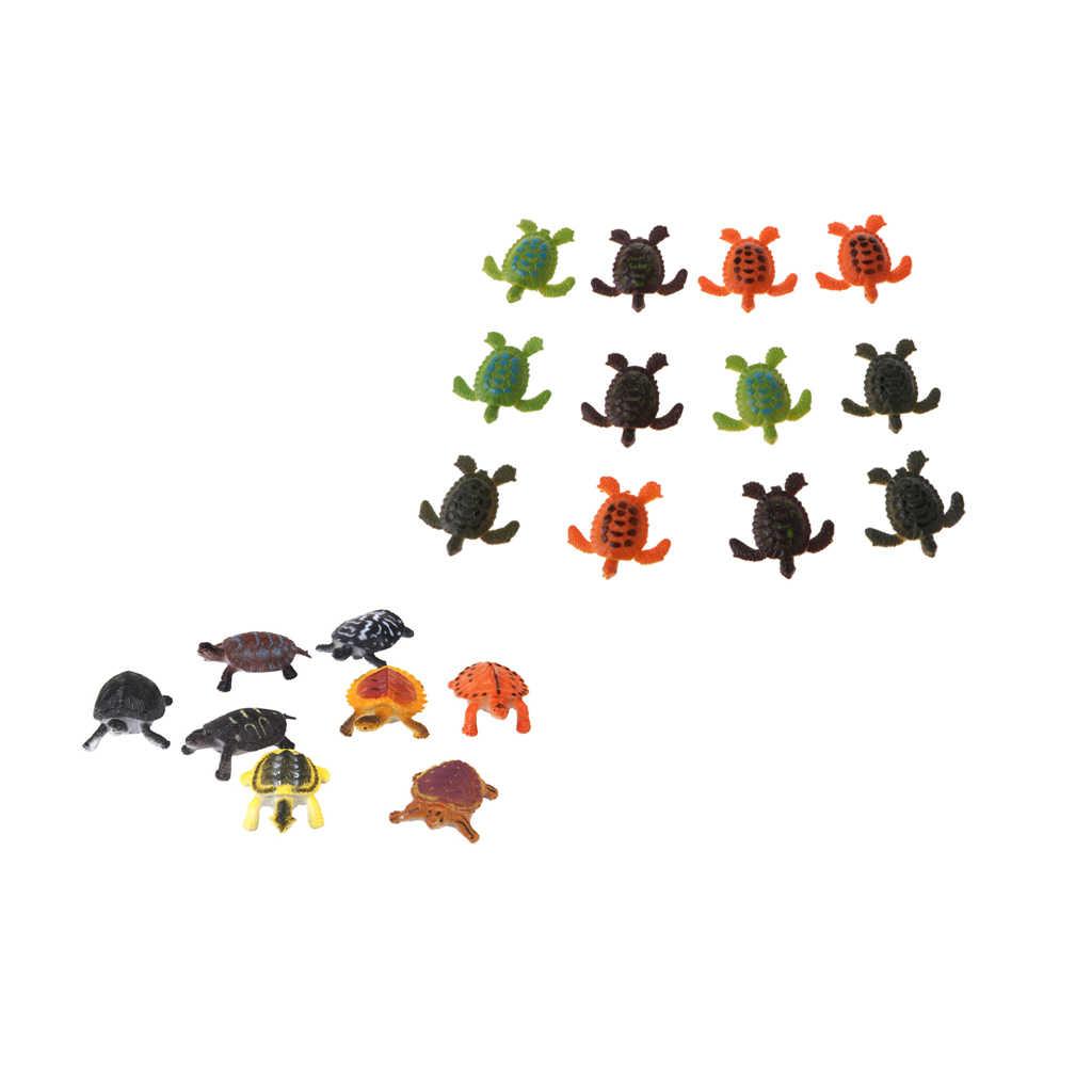 20pcs Multi-color Sea Turtles Animals Model Toys Marine Beach Party Favors