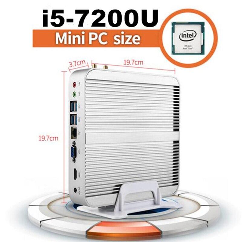 Kaby 7100u 7200u lago core i5 mini pc i3 escritorio mini pc i3 i5 micro pc 4 k h