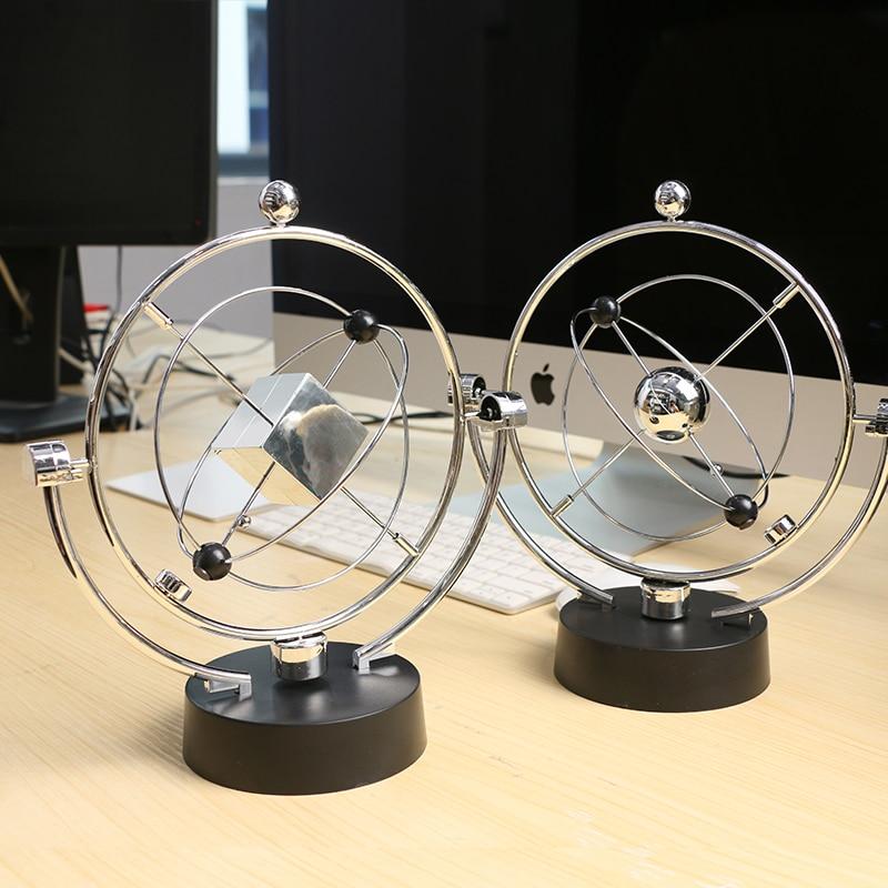 Creative Newton Billiards Bumping Hanging Pendulum Metal Balls Plastic Base Decoration Desk Crafts Birthday Gifts Miniatures