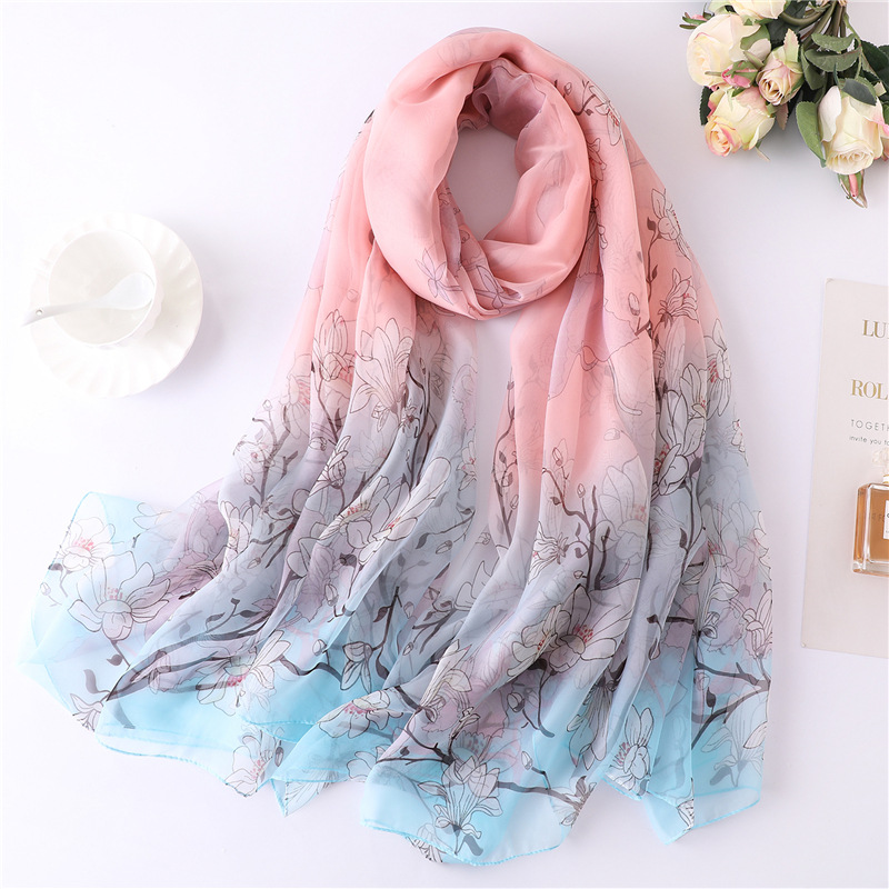 LaMaxPa Luxury Brand 2019 New Fashion Summer Silk Scarf For Women/Ladies Long Soft Wrap And Shawls Beach Hijab Female Foulard