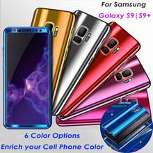 Double-Layer 2in1 untuk Samsung Galaxy S9 S9 + PLUS Note 8 J530 J730 A5 360 Full Cover Plating cermin Armor Perlindungan Hard PC Case(China)
