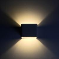 Lámpara LED de pared para interiores con forma de mazorca cúbica  lámpara moderna para decoración del hogar  aplique de aluminio de 6W 85 265V para NR 126 de pasillo de baño|Lámparas LED de pared de interior| |  -