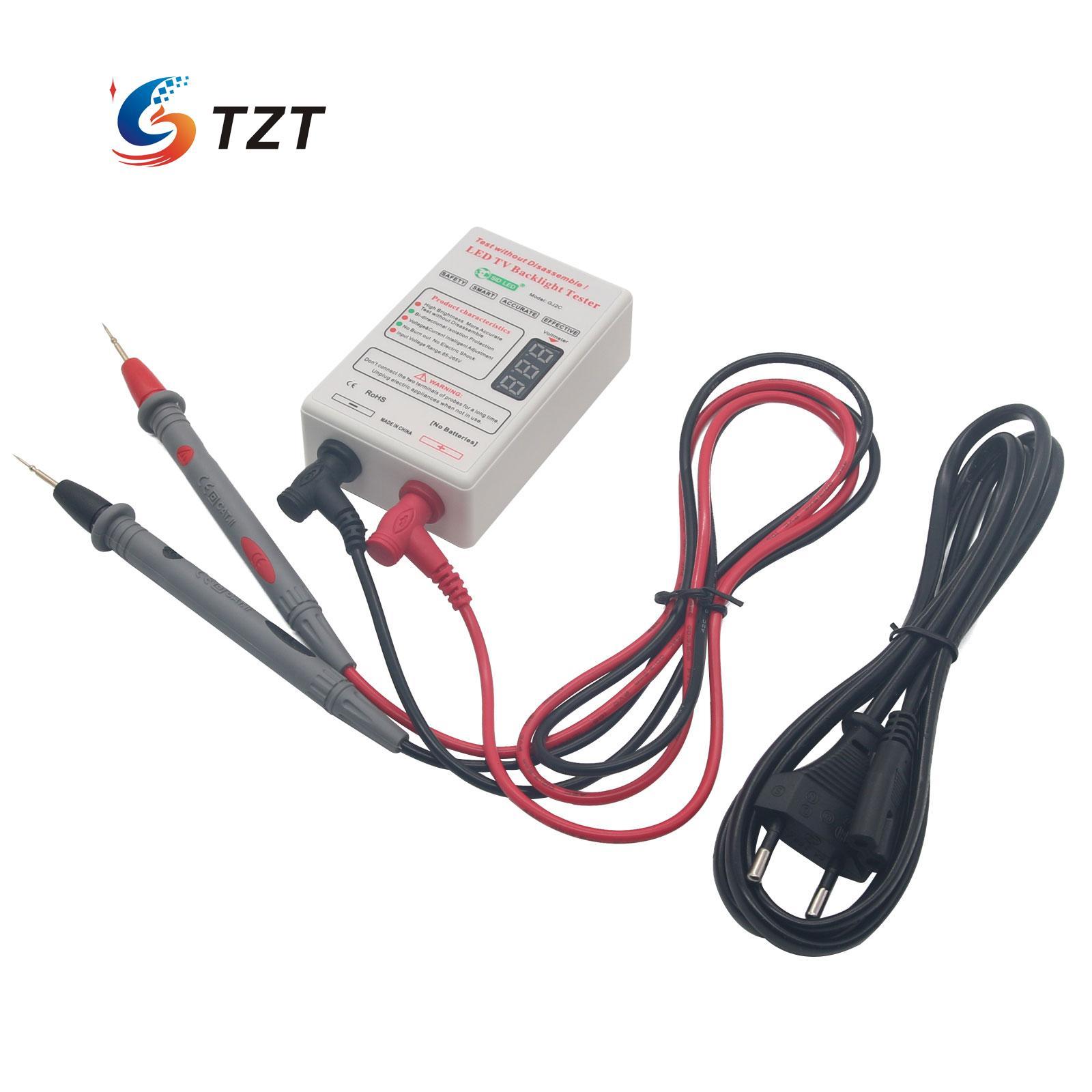 0-300V LED TV LCD Tester Lamp Beads Board GJ2C Strip Backlight Voltage td 0 200v voltage tv laptop led lcd backlight tester lamp beads light board transistor geiger tester