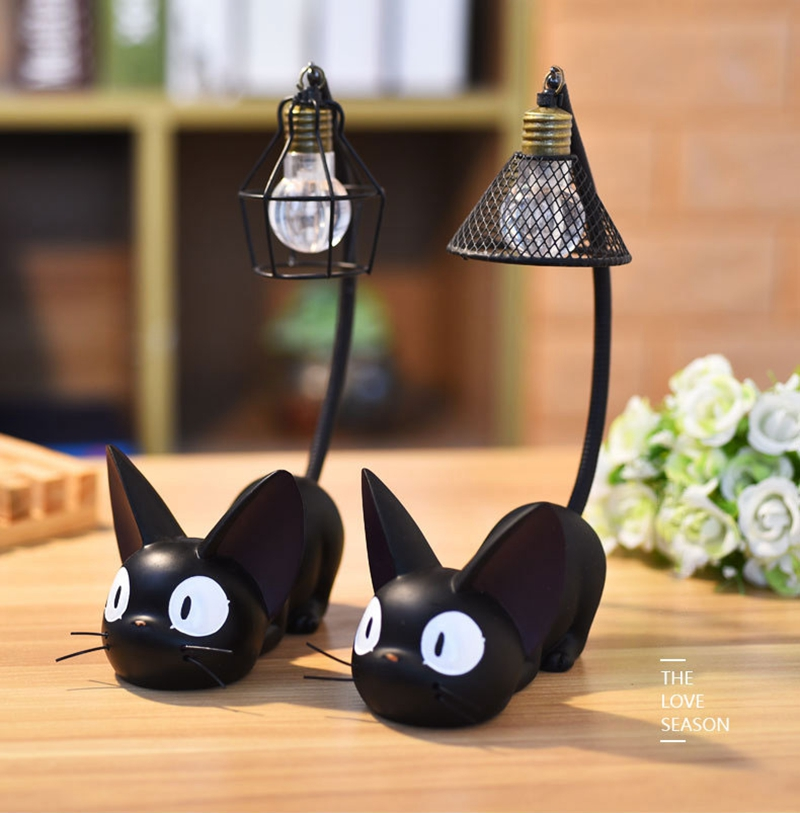 LED Night Light Creative Resin Cat Animal Night Light Ornaments Home Decoration Gift Small Cat Night Lamp (1)
