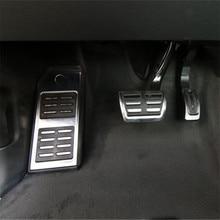 送料無料カースタイリングステンレス鋼スポーツ燃料ブレーキフッケースアウディQ7 SQ7 Q8カイエン、自動車の付属品