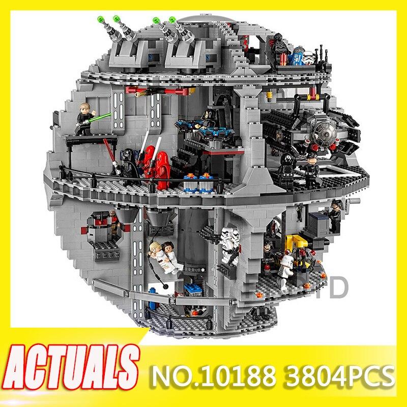 DHL Legoinglys Starwars 3804 piezas Star Wars estrella de la muerte de bloques de construcción ladrillos educativos juguetes de cumpleaños Kits 10188 regalo Niño