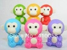 Free shipping Cute Monkey King Eraser 16pcs/lot Creative School Children Stationery Eraser