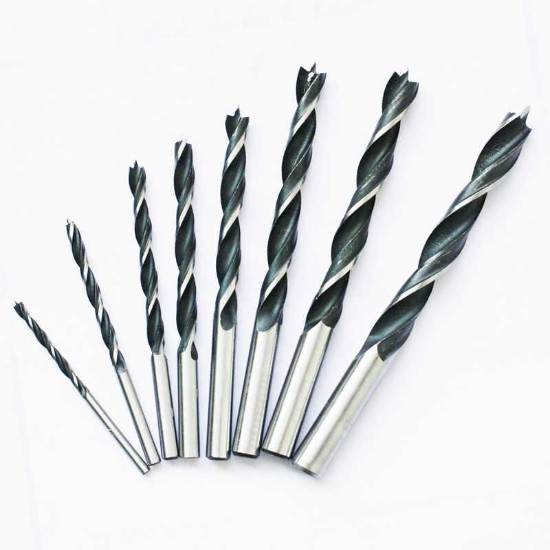 8 adet büküm Brad noktası matkap ucu seti ahşap sondaj ağaç işleme aletleri
