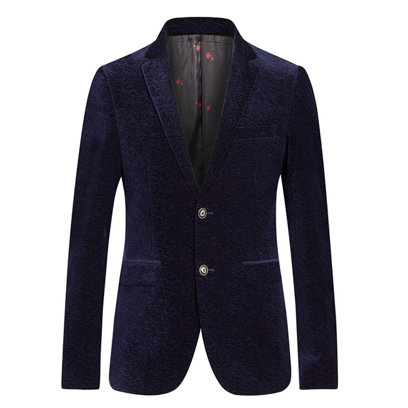 ICPANS Casual Blazer Single Breasted Gold Velvet Suits Men Blazers Slim Fit Business office Spring Autumn Blazers Size XXXL