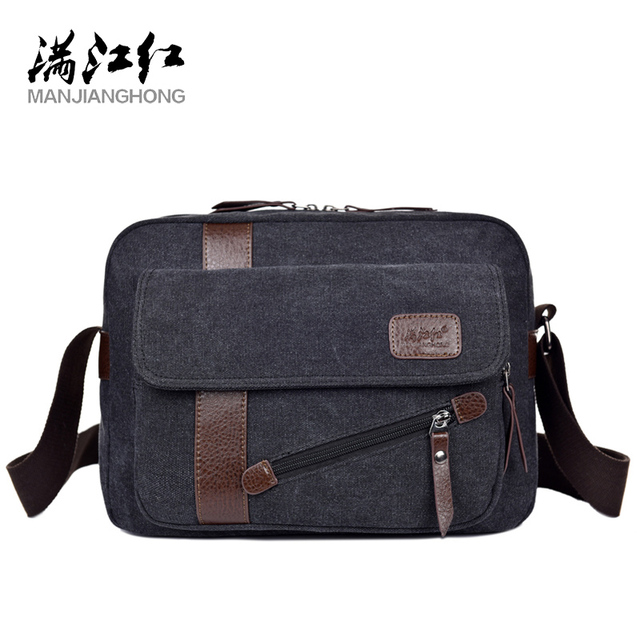899f605a5 MANJIANGHONG Men's New Canvas Bag High Quality Casual Cross Section Square  Bag Fashion Wild Shoulder Messenger