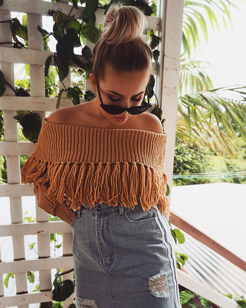 Off The Shoulder Sweater Women (5)