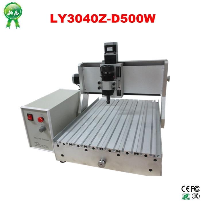 Hot sale! CNC router engraver LYCNC3040Z-D500W 3axis cnc milling machine for wood, metal carving