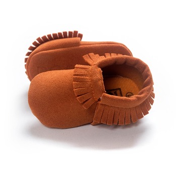 2019 PU Suede Leather Newborn Baby Moccasins Shoes Soft Soled Non-slip Crib First Walker 1