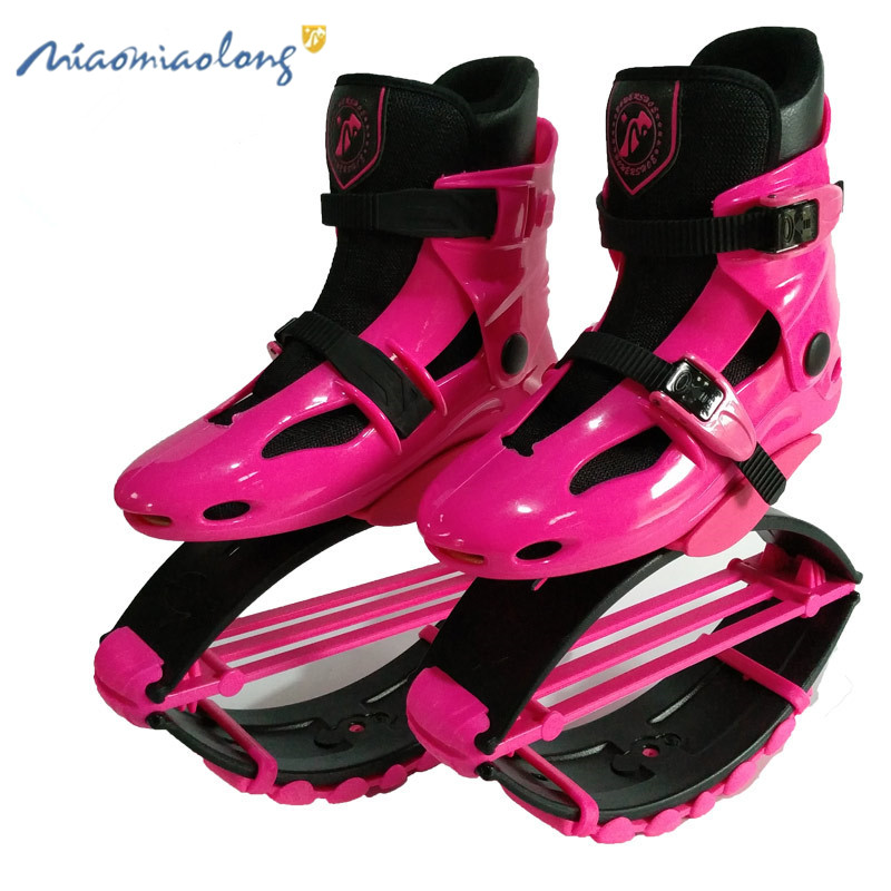 Unisex Kangaroo Shoes Jumping Boots Bouncing Stilts Anti Gravity Boots Jump Fitness Dance Shoe Yoga Women Fitness Home GYM Pink drone helipad