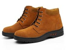 Labor insurance shoes, anti-smashing, piercing, male, breathable, steel, head, hair, leather, slip, wear