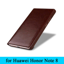 Classic Design Flip Case Luxury Genuine Leather Cover Skin Phone Protective Bag for Huawei Honor Note8 Note 8 Free Shipping