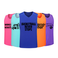 Adsmoney Polyester 14 Color Cheap Mens Basketball Jersey Breathable College Sport Team Basketball Shirt Sleeveless Training