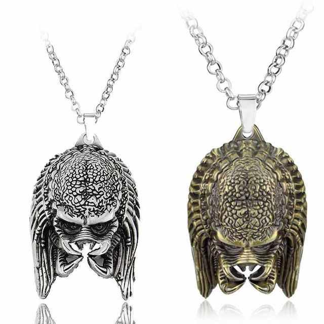 Модные Украшения для мужчин AVP чужой Хищник маска кулон Цепочки и ожерелья