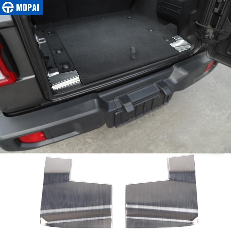 MOPAI Interior Moulding for Jeep Wrangler JL 2018 Car Rear Trunk Door Sill Entry Guard Protect