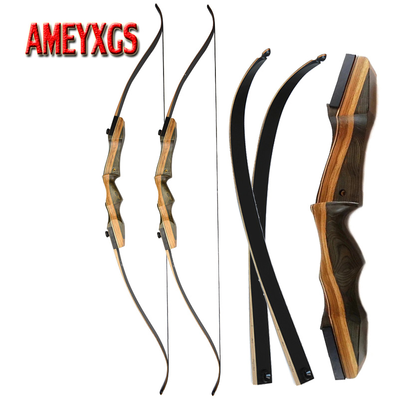 """62/"""" Traditional Archery Recurve Bow Takedown Longbow Shooting Hunting Right Hand"""