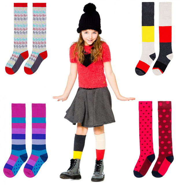 Girls' Long Cotton Socks