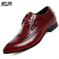 BAOLUMA Plus Size 46 47 48 Pu Leather Loafers Mens Designer Shoes Style Business Men Dress