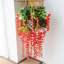 12pcs Fake Wisteria flower Vine Artificial Flowers With Green Leaves Plants For Wedding Decoration Hanging Garland Home Decor