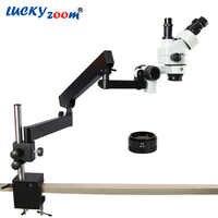 Glück Zoom Marke 7X-90X GELENKARM ZOOM STEREOMIKROSKOP + SZM2.0X Ziel Auxillary Objektiv Mikroskop Zubehör