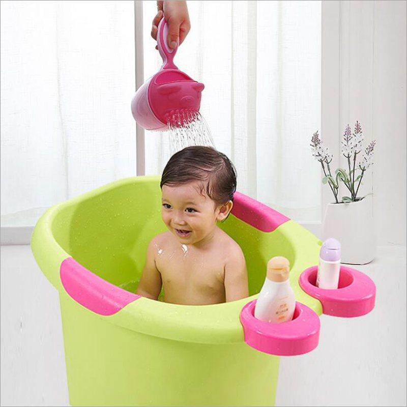 Cute Cartoon Baby Bath Caps Toddle Shampoo Cup Children Bathing Bailer Baby Shower Spoons Child Washing Hair Cup Kids Bath Tool