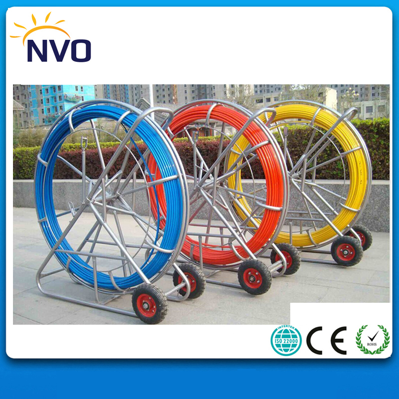 6*500M FRP Duct Electric Reel Wire Cable Running Duct Rodder Fishtape Puller used for Telecom, Wall and Floor Conduit