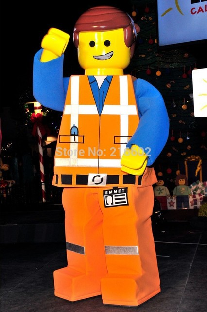 Lego Man Halloween Costume.Lego Costumes For Adults New 2015 Lego Man Mascot Costume