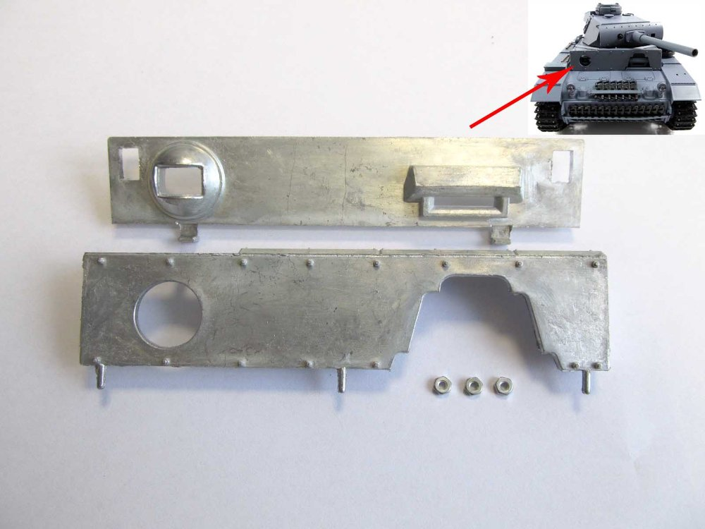 ФОТО Mato Upper hull metal front  plate  for  1/16 1:16 RC Panzer III tank, metal upgrade parts